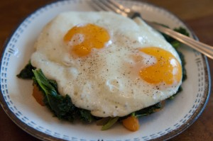 Kale Sweet Potato Eggs