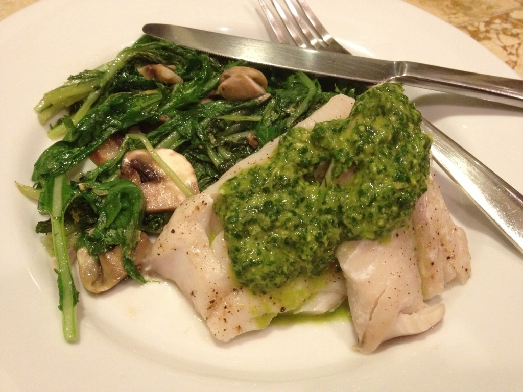 Baked Fish with Cilantro Sauce