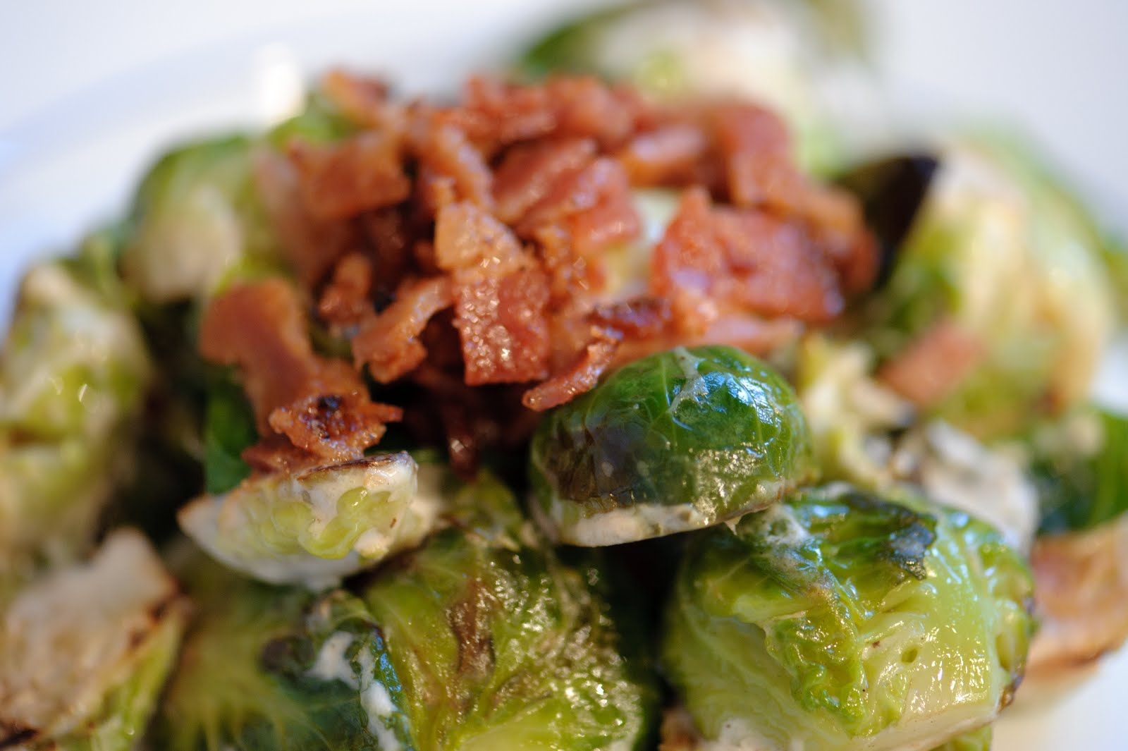 Brussels Sprouts with Bacon - Girlfriends Coffee Hour