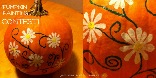 Pumpkin Painting Contest & Linky Party www.girlfriendscoffeehour.com #fallfun