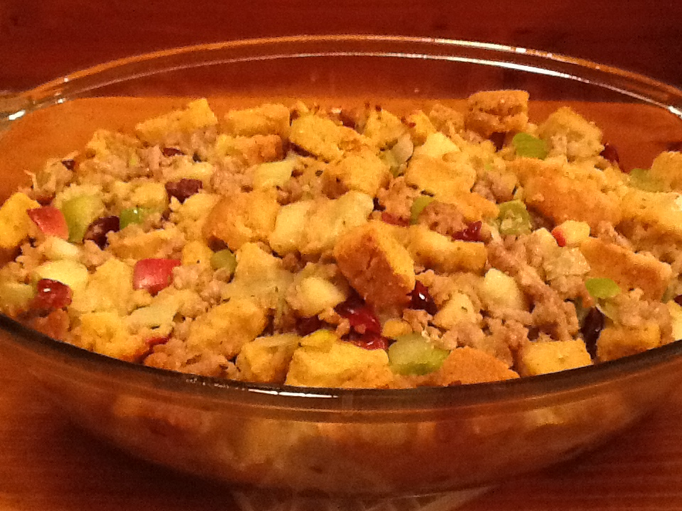 Cornbread Dressing With Sausage And Apples Recipe — Dishmaps