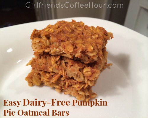 Easy Dairy-Free Pumpkin Oatmeal Bars www.girlfriendscoffeehour.com #dairyfree