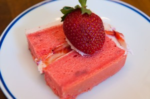 Strawberry Overload Cake slice