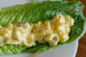 Egg Olive Salad Leaf