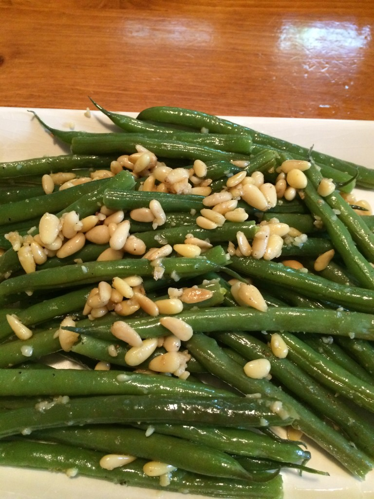 Garlicky Green Beans and Pignoli - Girlfriends Coffee Hour