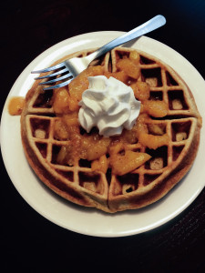 Peach Pie Waffles