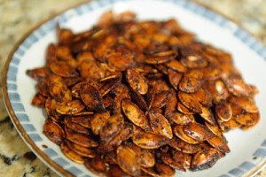 Korean Spiced Pumpkin Seeds